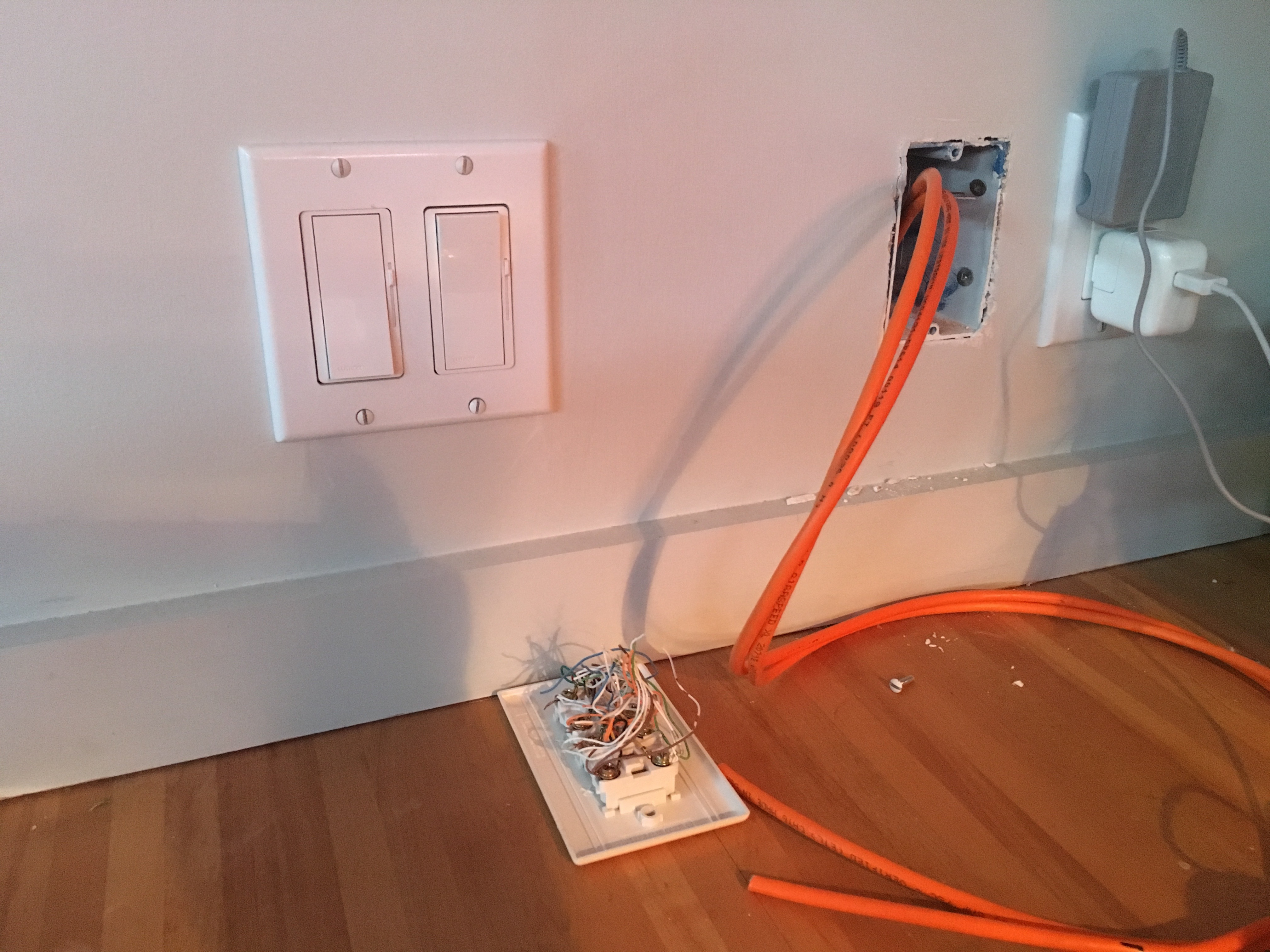 Home Network Is All Set Our In Williston Vermont Wiring Outlet Cat6